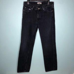 Acne Studios Mic Lana Black Slim Straight Jeans